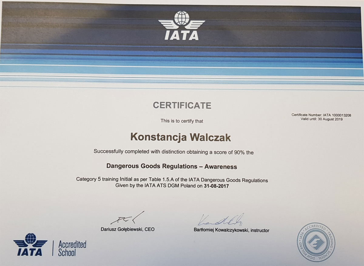 kw_Certyfikat-Dangerous-Goods-Regulations---Awareness